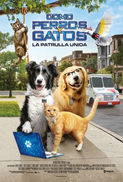 Cine infantil «Como perros y gatos: la patrulla unida»