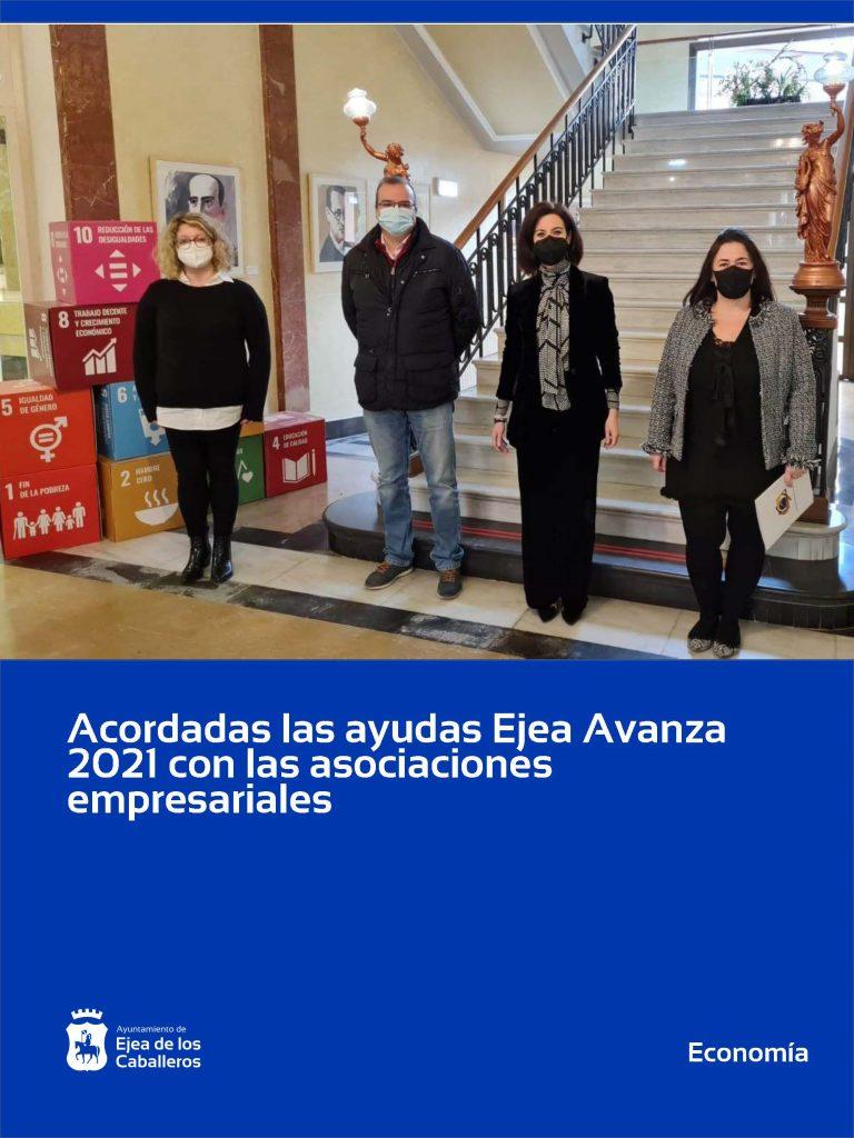 El Ayuntamiento de Ejea de los Caballeros acuerda con las asociaciones empresariales las ayudas Ejea Avanza 2021