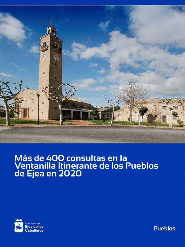 Más de 400 consultas en la Ventanilla Itinerante de los Pueblos de Ejea de los Caballeros durante el año 2020