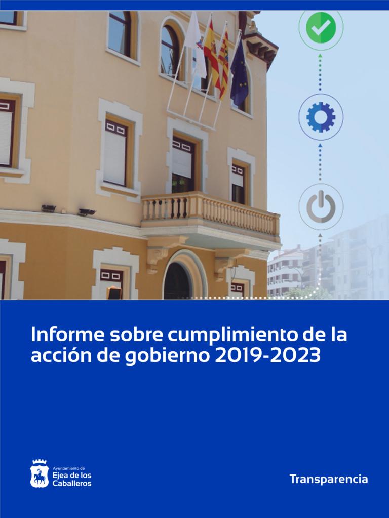 El Ayuntamiento de Ejea de los Caballeros presenta el informe de cumplimiento de la acción de gobierno 2019 – 2023