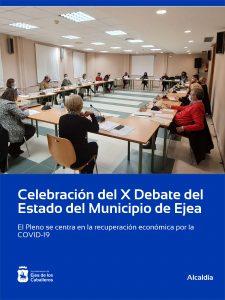 Ejea de los Caballeros celebra su décimo Debate del Estado del Municipio centrado en la reactivación económica por la COVID-19