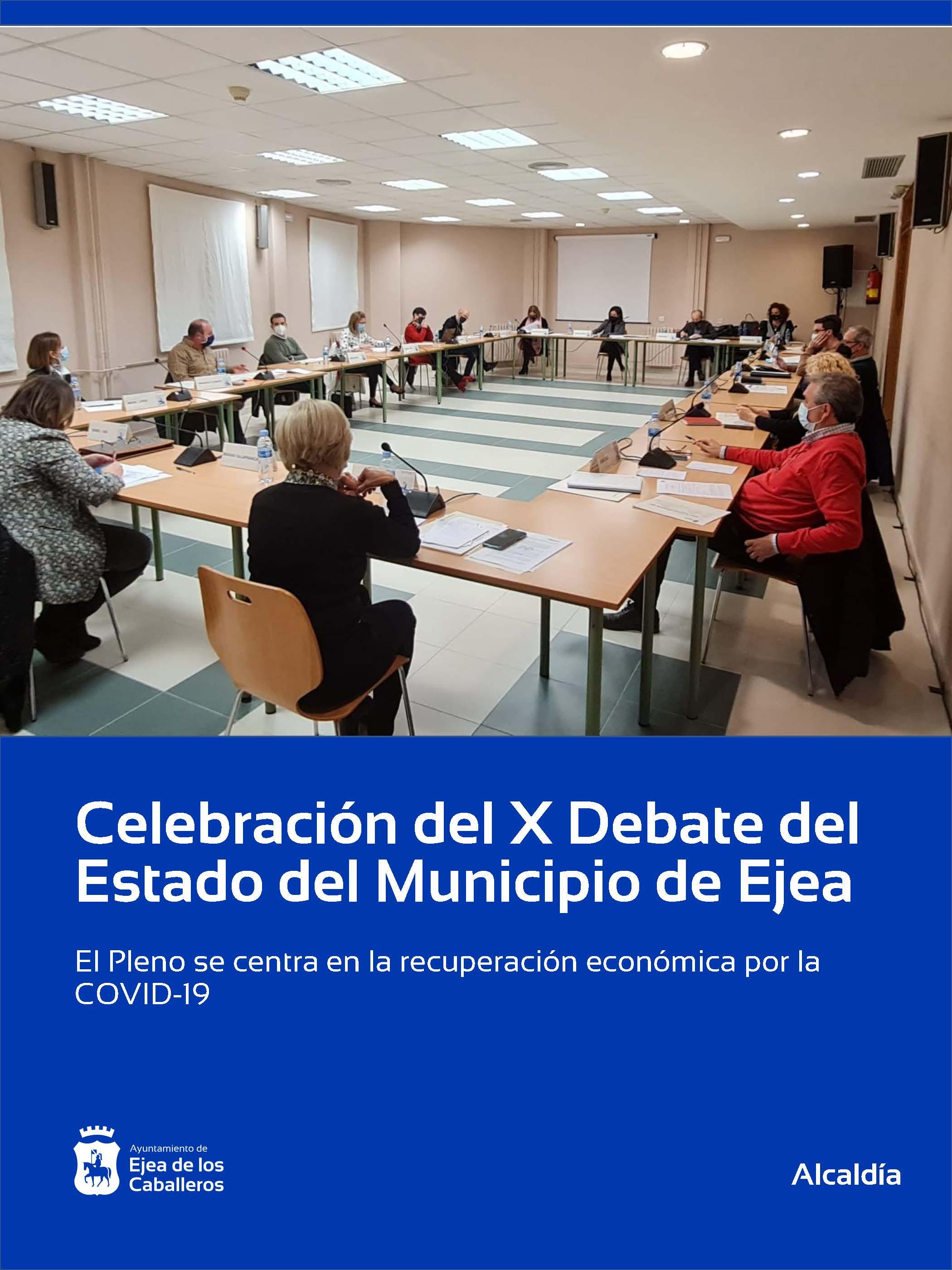 Celebración del décimo Debate de Política Municipal de Ejea de los Caballeros