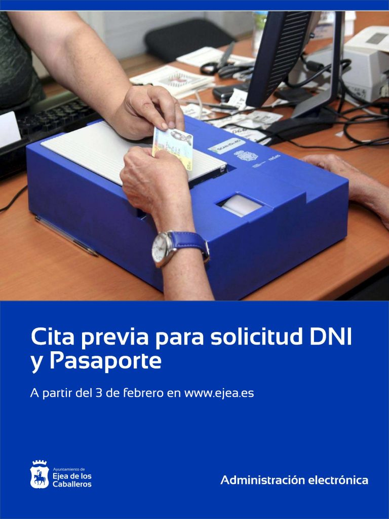 Se pone en marcha la cita previa para solicitar el DNI y el Pasaporte en Ejea