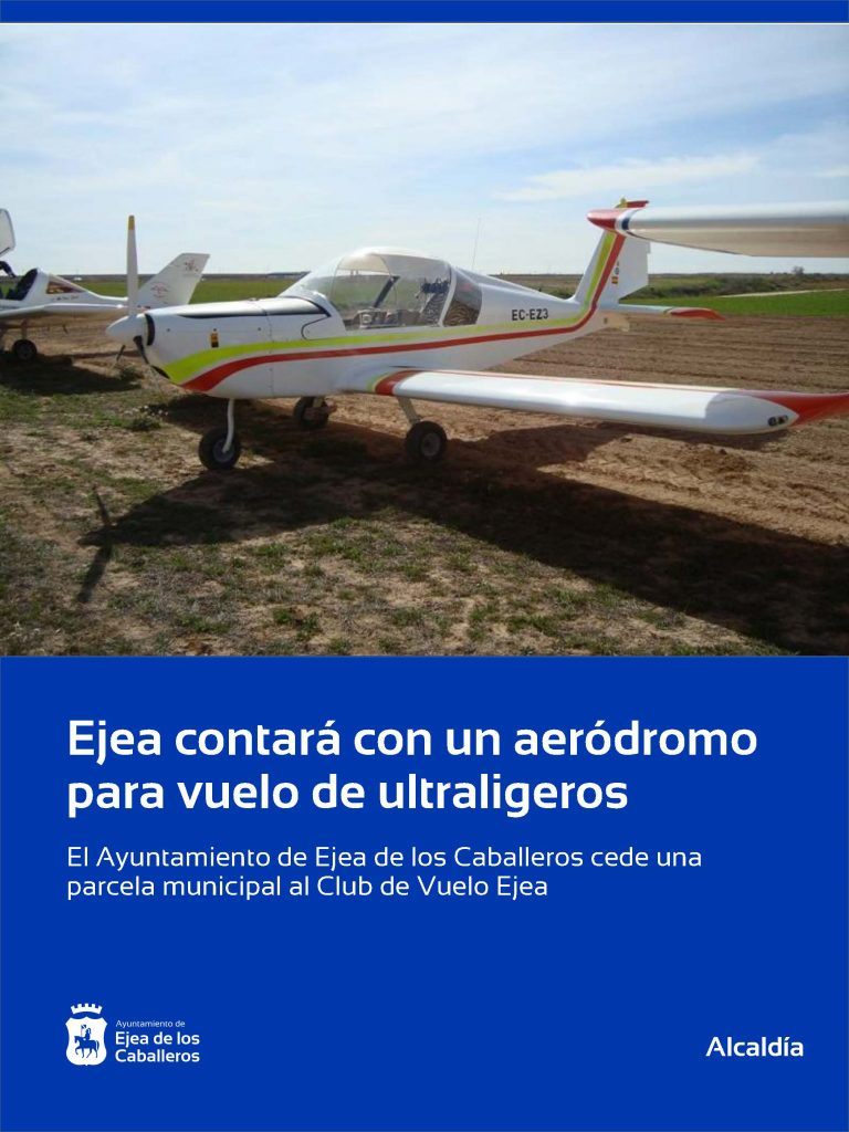 Ejea contará con un Aeródromo homologado para vuelo de ultraligeros