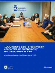 El Ayuntamiento de Ejea de los Caballeros destina 1.000.000 euros para consolidar y reactivar la actividad económica de autónomos y microempresas locales