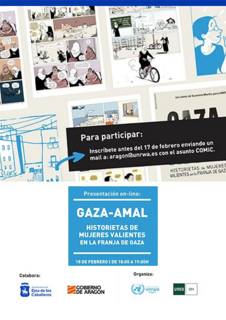 Presentación online cómic Gaza-Amal