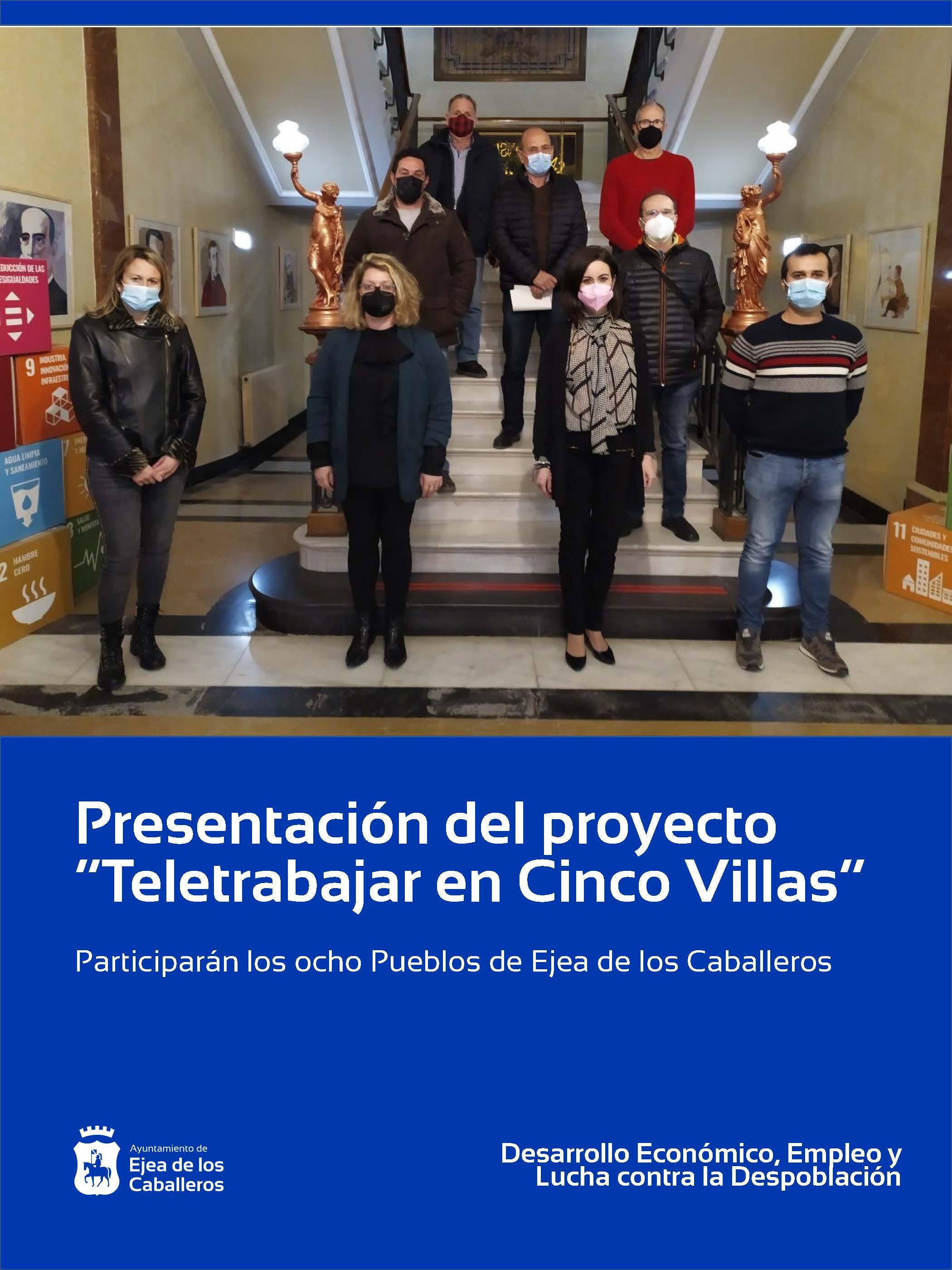 """Ejea de los Caballeros se suma al proyecto """"Teletrabajar en Cinco Villas"""""""