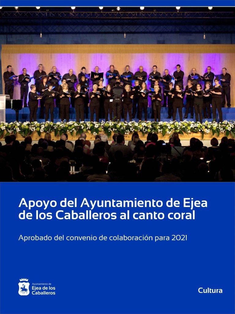 Apoyo estable del Ayuntamiento de Ejea de los Caballeros al canto coral