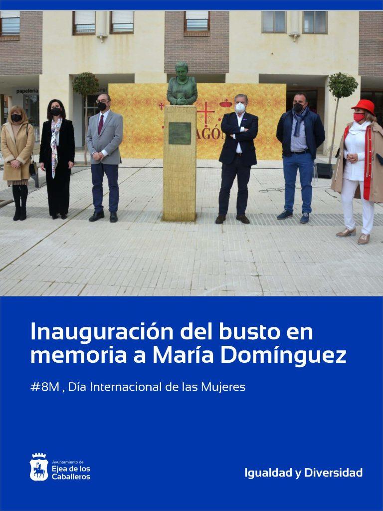 Inauguración del busto en memoria a María Domínguez, primera alcaldesa democrática de España