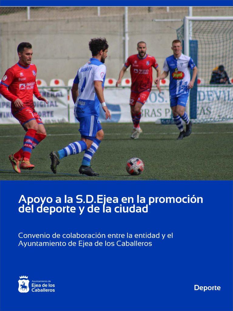 """El Ayuntamiento de Ejea apoya al Club de fútbol """"S.D.Ejea"""" en la promoción y fomento del deporte y de la ciudad"""