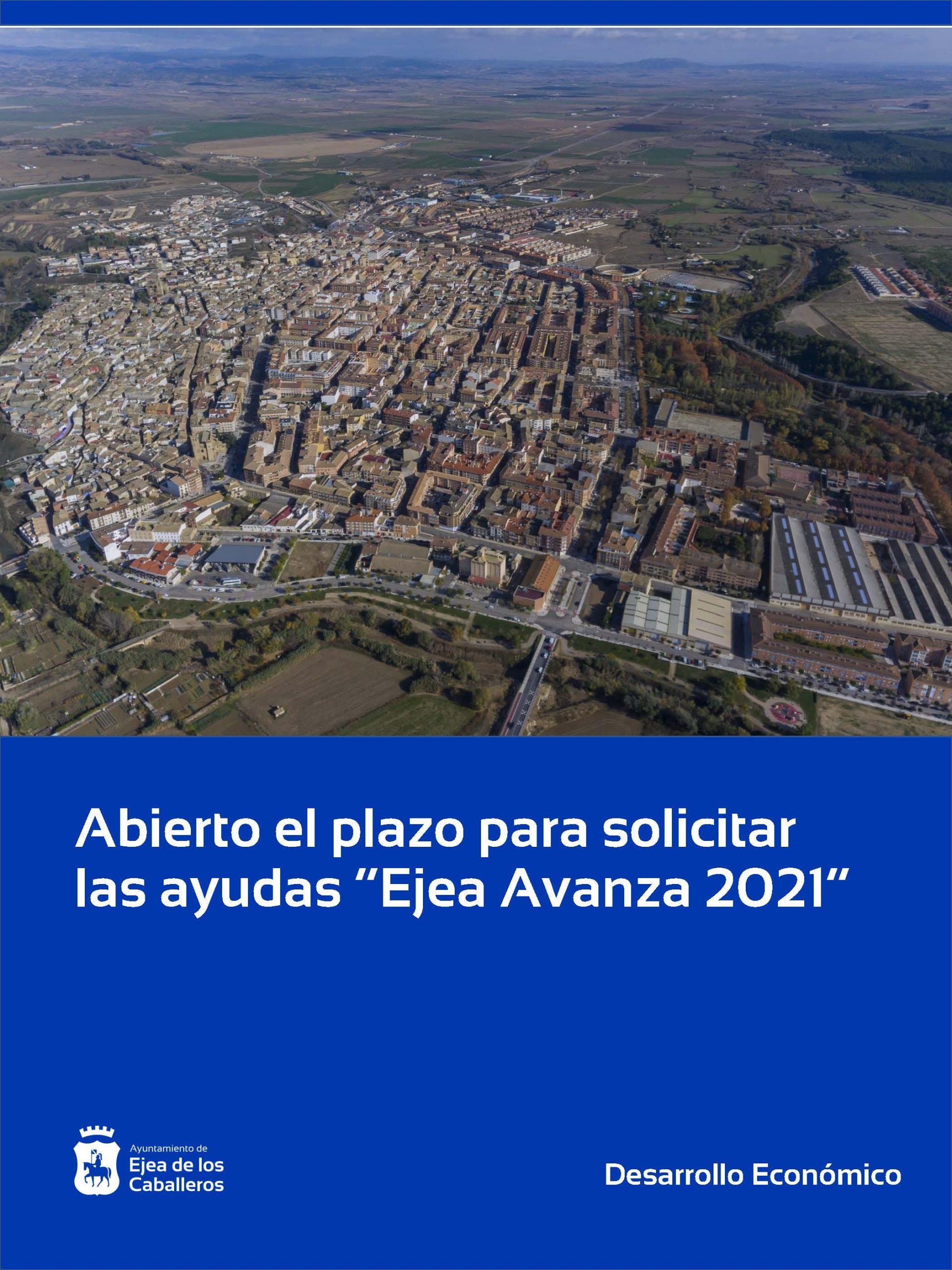 """Las ayudas """"Ejea Avanza 2021"""" ya se pueden solicitar hasta el 26 de abril"""