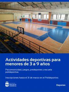 Comienzan las actividades deportivas para niños de 3 a 9 años en el Polideportivo Municipal de Ejea