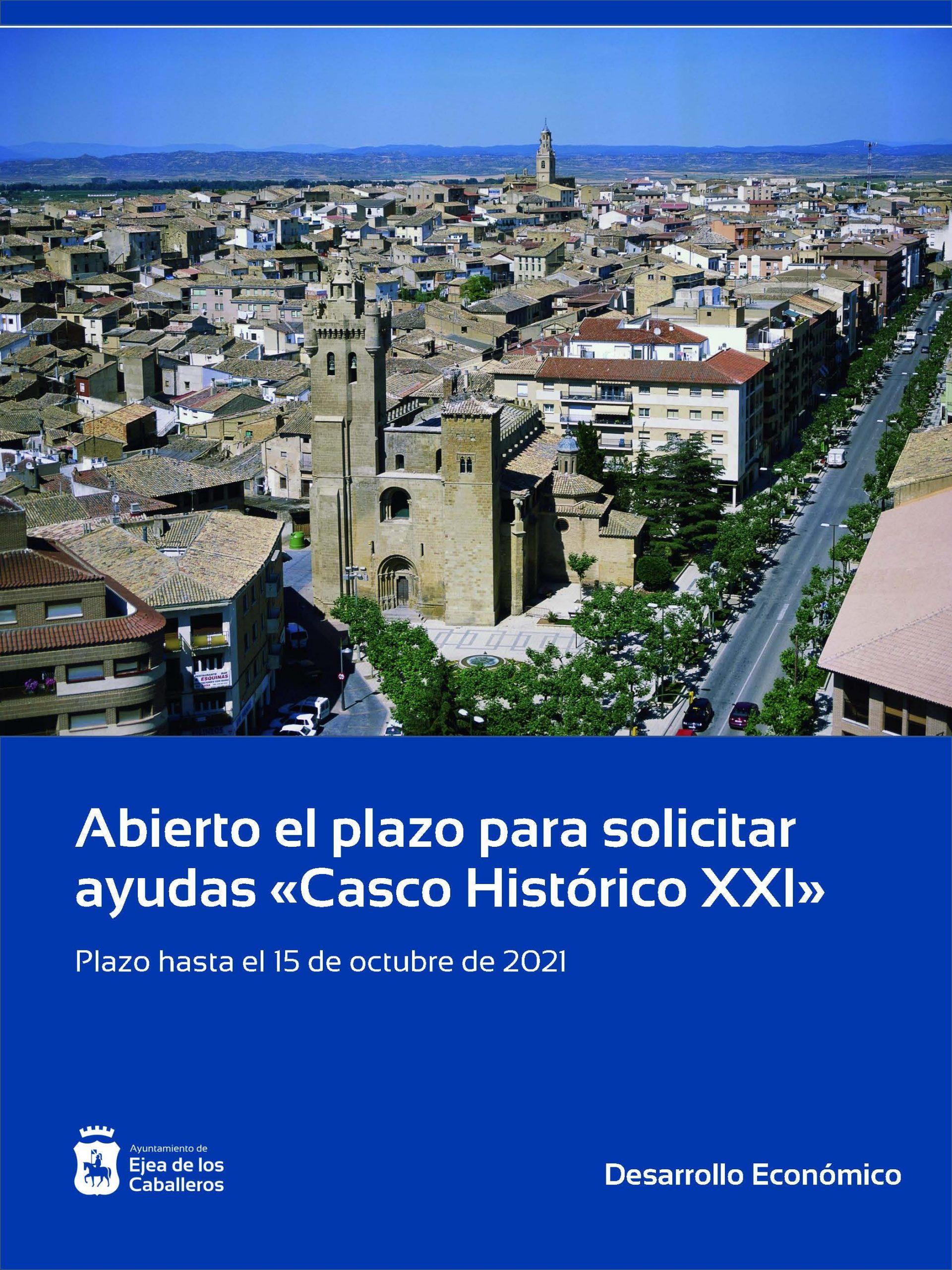 Abierto hasta el 15 de octubre el plazo para solicitar las subvenciones «Casco Histórico XXI»