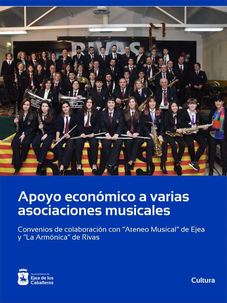 Apoyo económico del Ayuntamiento de Ejea de los Caballeros a las enseñanzas musicales