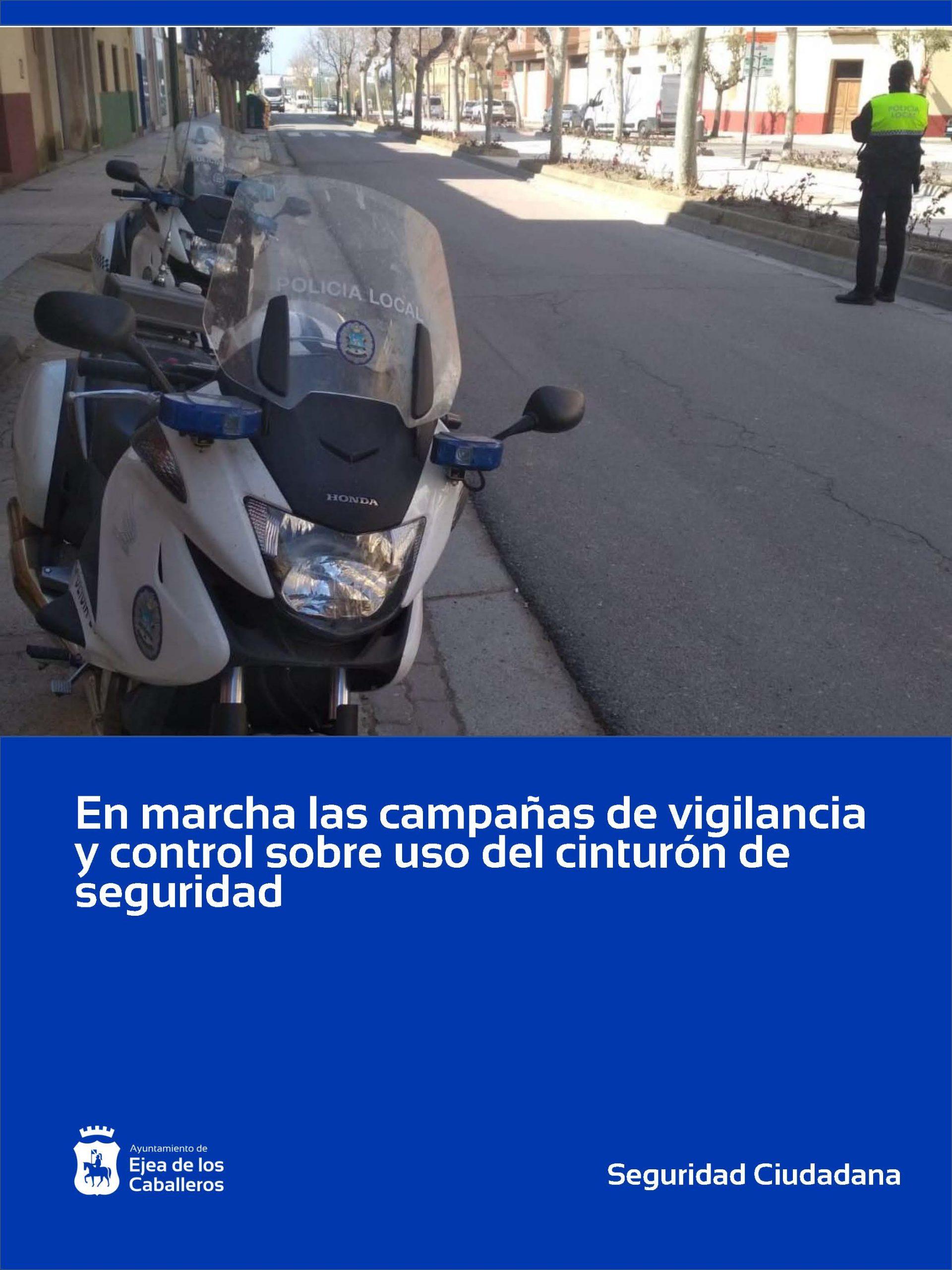 Campañas de vigilancia y de control sobre uso del cinturón de seguridad y sistemas de retención infantil en Ejea