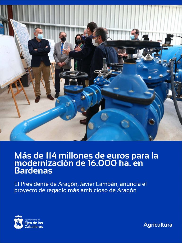Más de 114 millones de euros para la modernización de 16.000 hectáreas en Bardenas