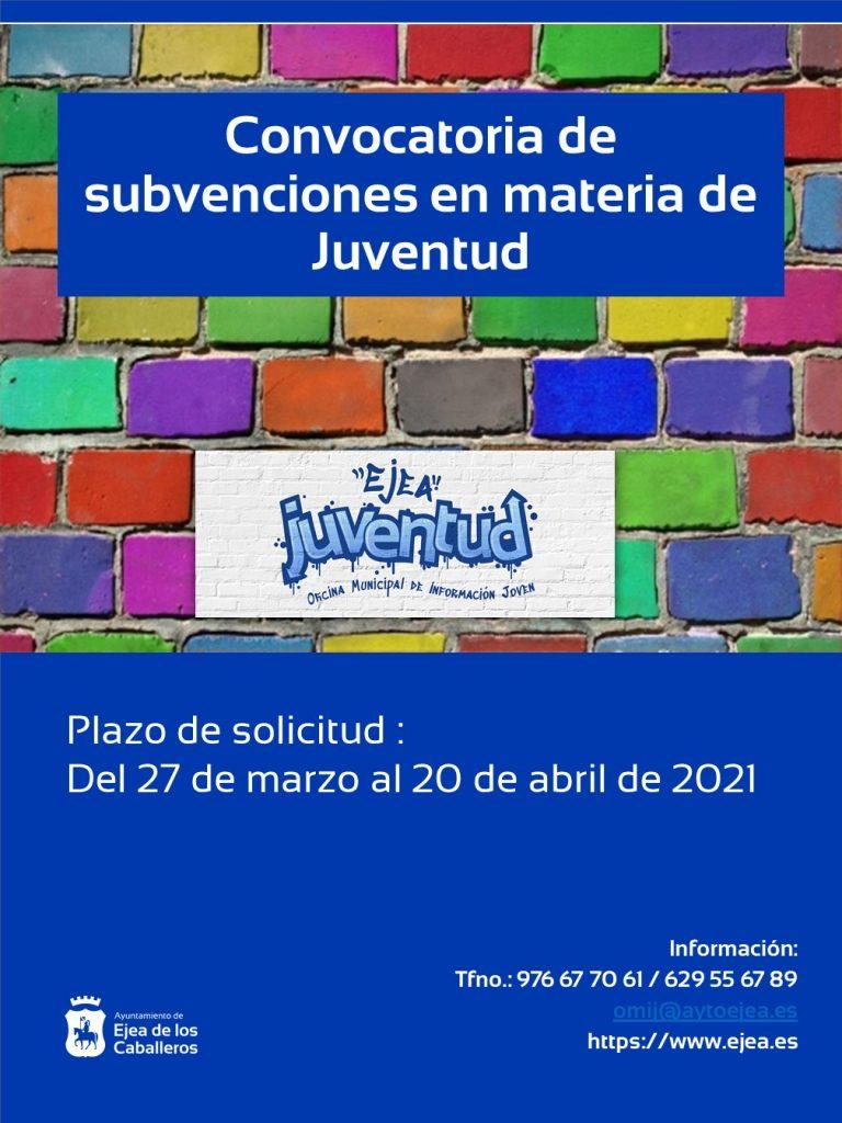 El Ayuntamiento de Ejea de los Caballeros ayuda a las asociaciones de jóvenes en el desarrollo de diferentes programas