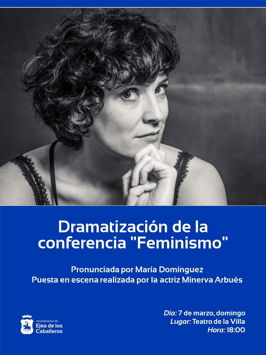 La actriz ejeana Minerva Arbués pondrá en escena una adaptación de las conferencias de María Domínguez recogidas en su libro «Opiniones de Mujeres».