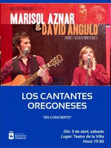 Lee más sobre el artículo Los cantantes oregoneses, Marisol Aznar y David Angulo, abren la programación cultural de primavera