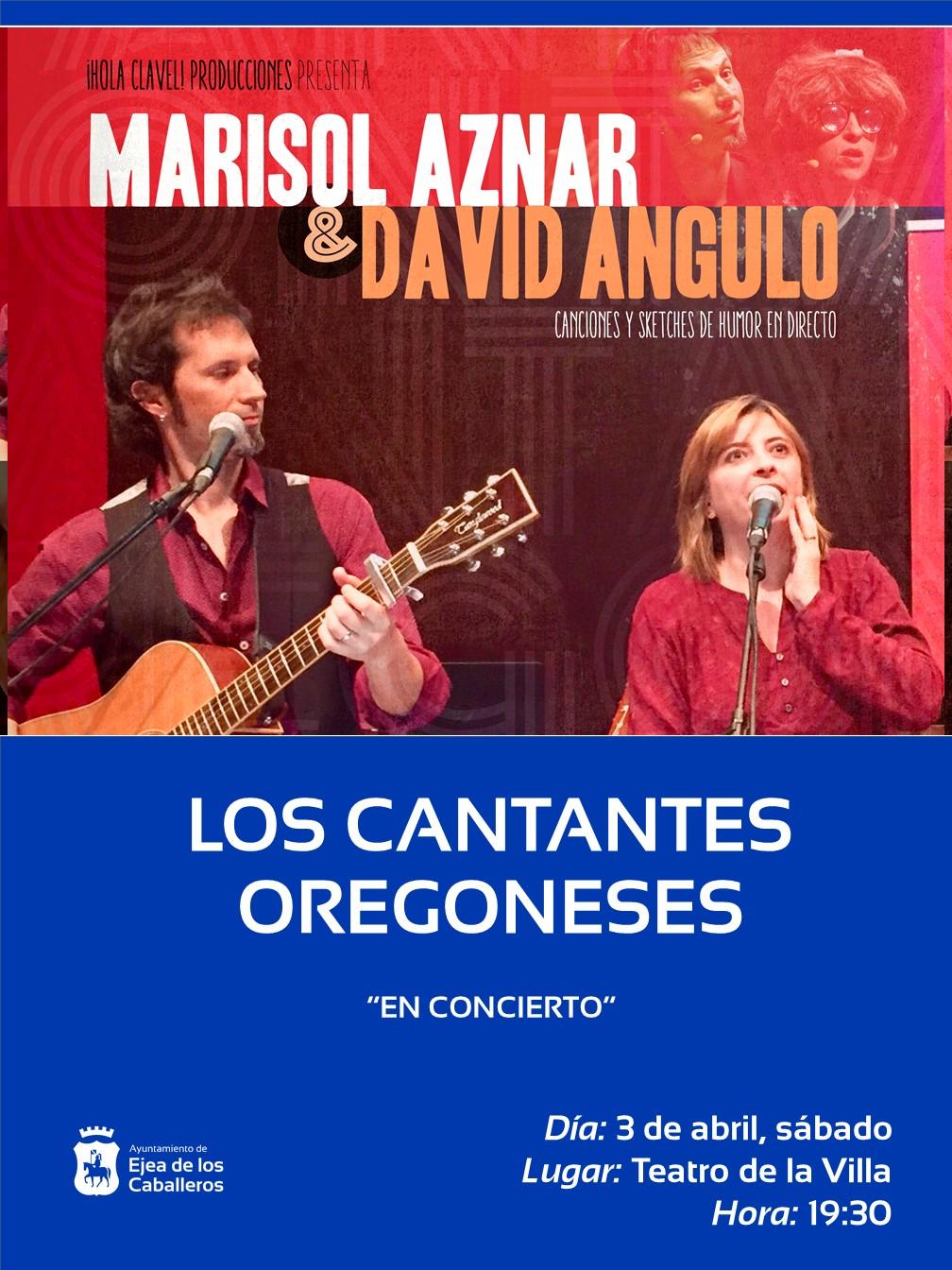 Los cantantes oregoneses, Marisol Aznar y David Angulo, abren la programación cultural de primavera