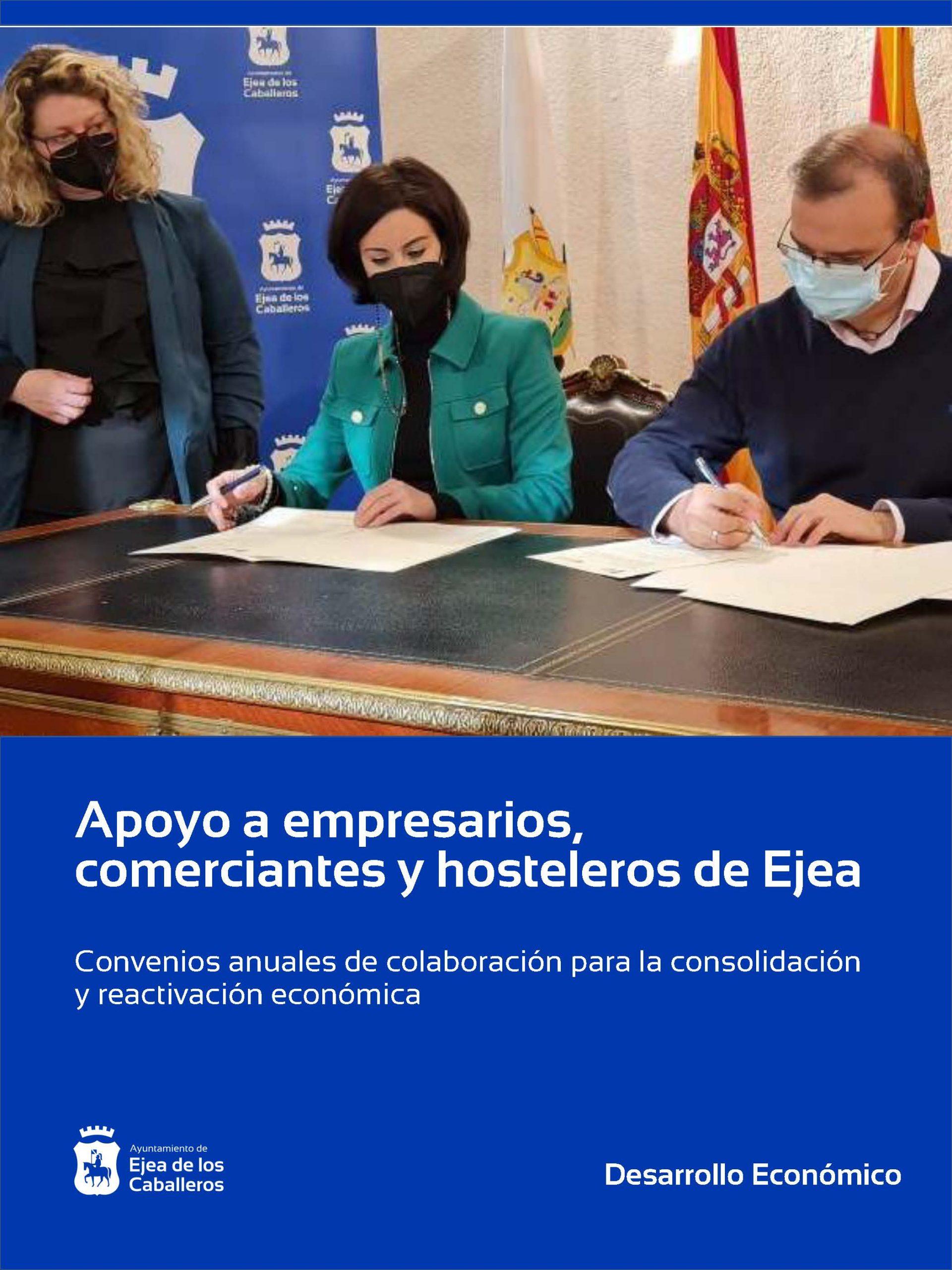 El Ayuntamiento de Ejea de los Caballeros continúa apoyando a comerciantes, empresarios y hosteleros