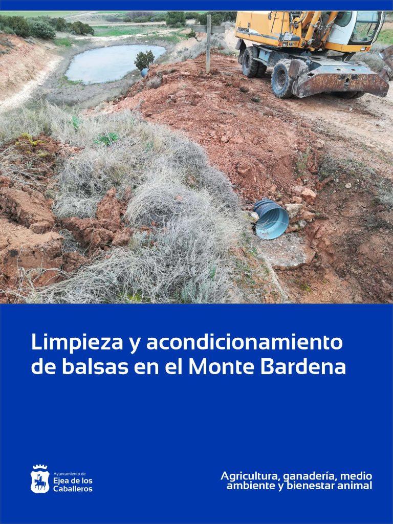 Acondicionamiento de balsas en el Monte Bardena de Ejea de los Caballeros