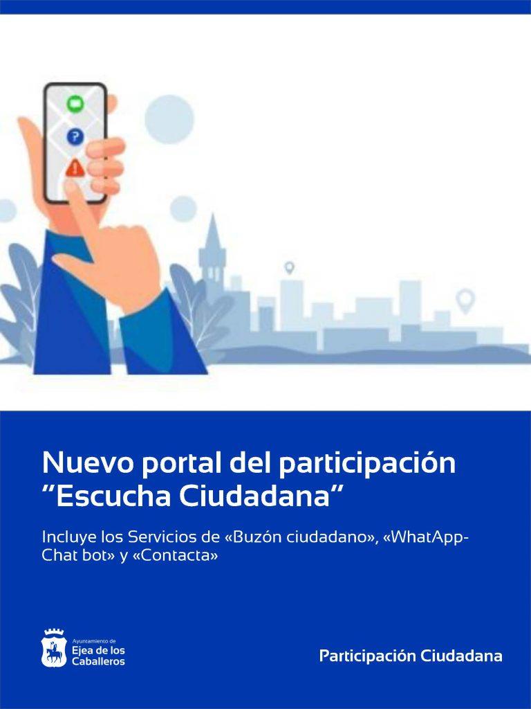 En marcha «Escucha Ciudadana», el nuevo portal de participación del Ayuntamiento de Ejea de los Caballeros