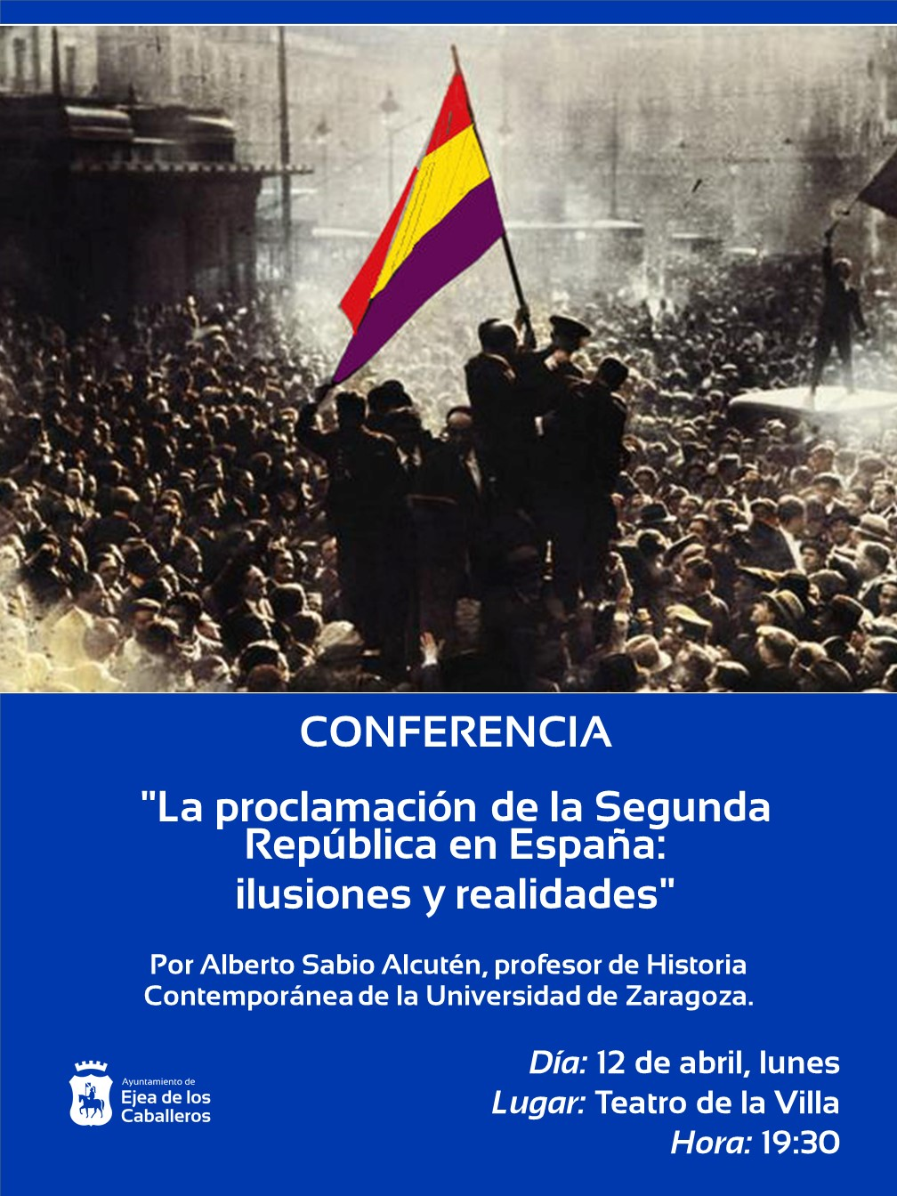 Conferencia del profesor Alberto Sabio sobre la proclamación la de Segunda República en España con motivo de su 90 aniversario