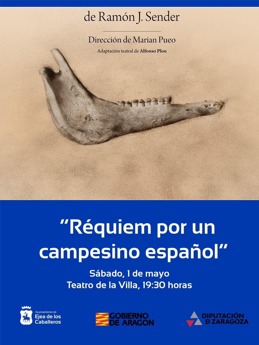 Teatro Che y Moche representará «Réquiem por un campesino español», adaptación teatral de la novela del escritor aragonés Ramón J. Sender