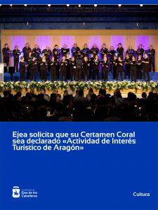 Lee más sobre el artículo Ejea de los Caballeros solicita la declaración de su Certamen Coral como «Actividad de Interés Turístico de Aragón»