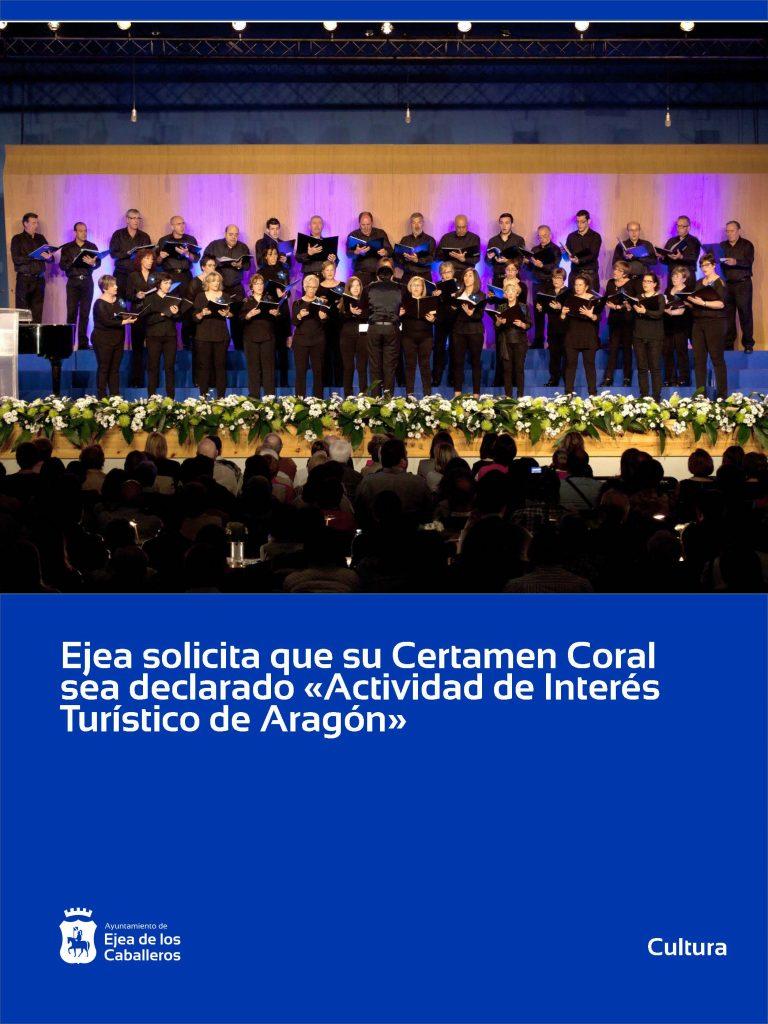 Ejea de los Caballeros solicita la declaración de su Certamen Coral como «Actividad de Interés Turístico de Aragón»