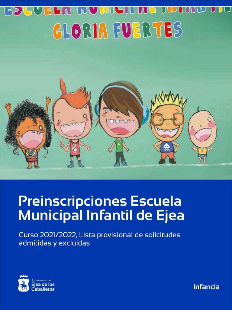 Lista de solicitudes admitidas y excluidas Escuela Municipal Infantil «Gloria Fuertes»