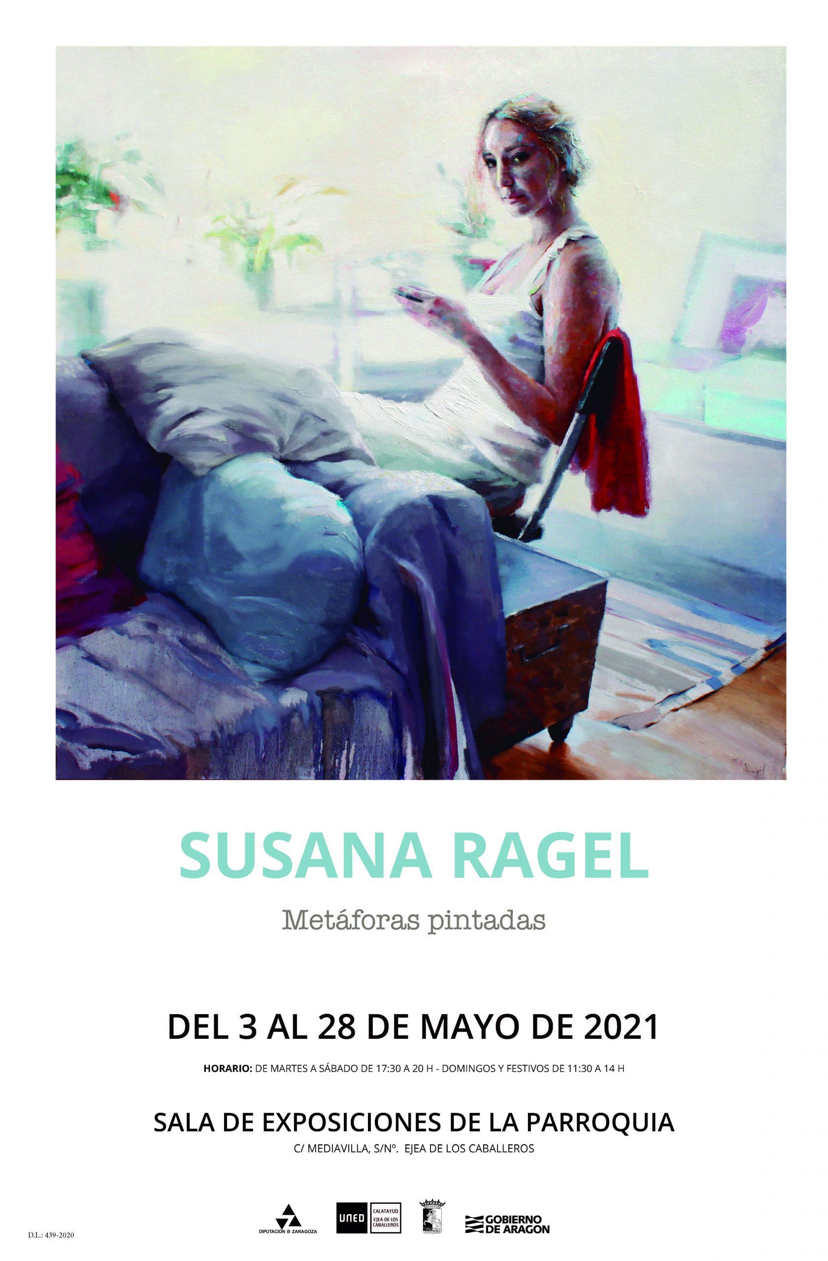 Una exposición de la pintora Susana Ragel llega a Ejea de mano de la UNED