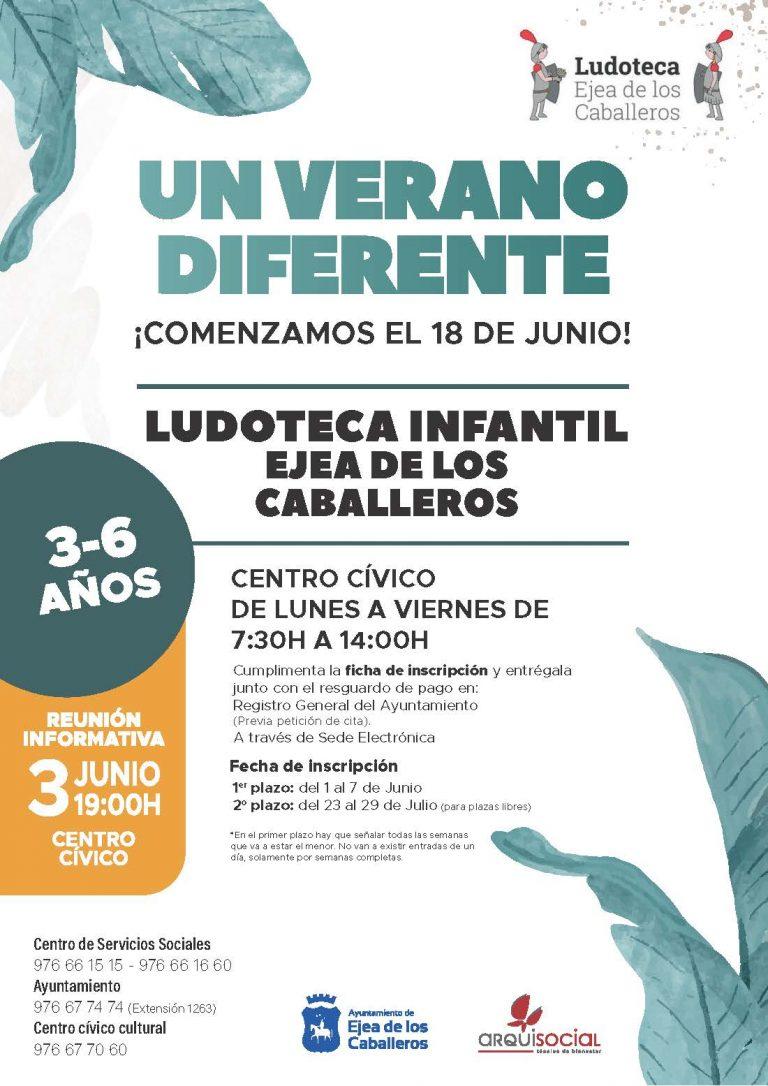 """""""Un verano diferente"""", la propuesta de ludoteca municipal en Ejea de los Caballeros"""