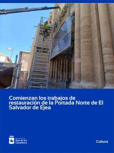 Lee más sobre el artículo Comienza la restauración de la portada norte de la Iglesia de El Salvador de Ejea de los Caballeros
