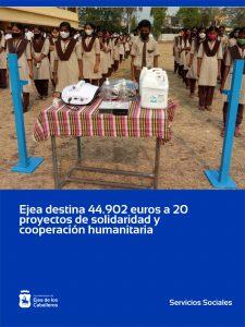 Lee más sobre el artículo El Ayuntamiento de Ejea de los Caballeros destina 44.902 euros a 20 proyectos de solidaridad, cooperación y ayuda humanitaria