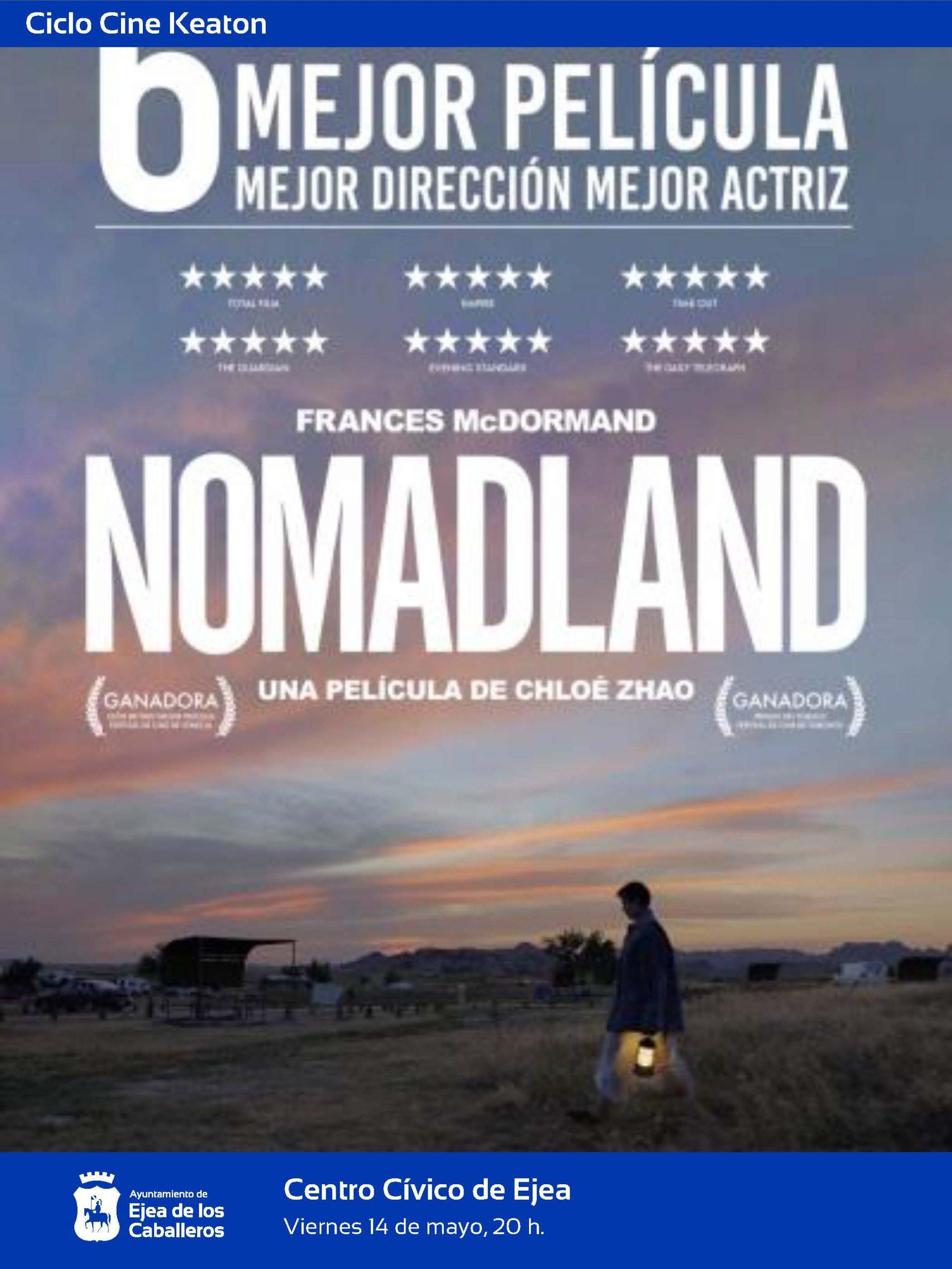 """El Ciclo Keaton propone """"Nomadland"""", la película más premiada del año"""