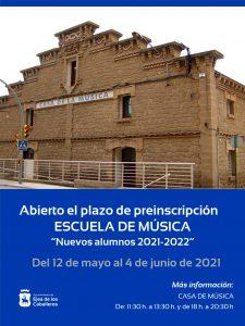 Últimos días para la preinscripción de nuevos alumnos en la Escuela de Música de Ejea