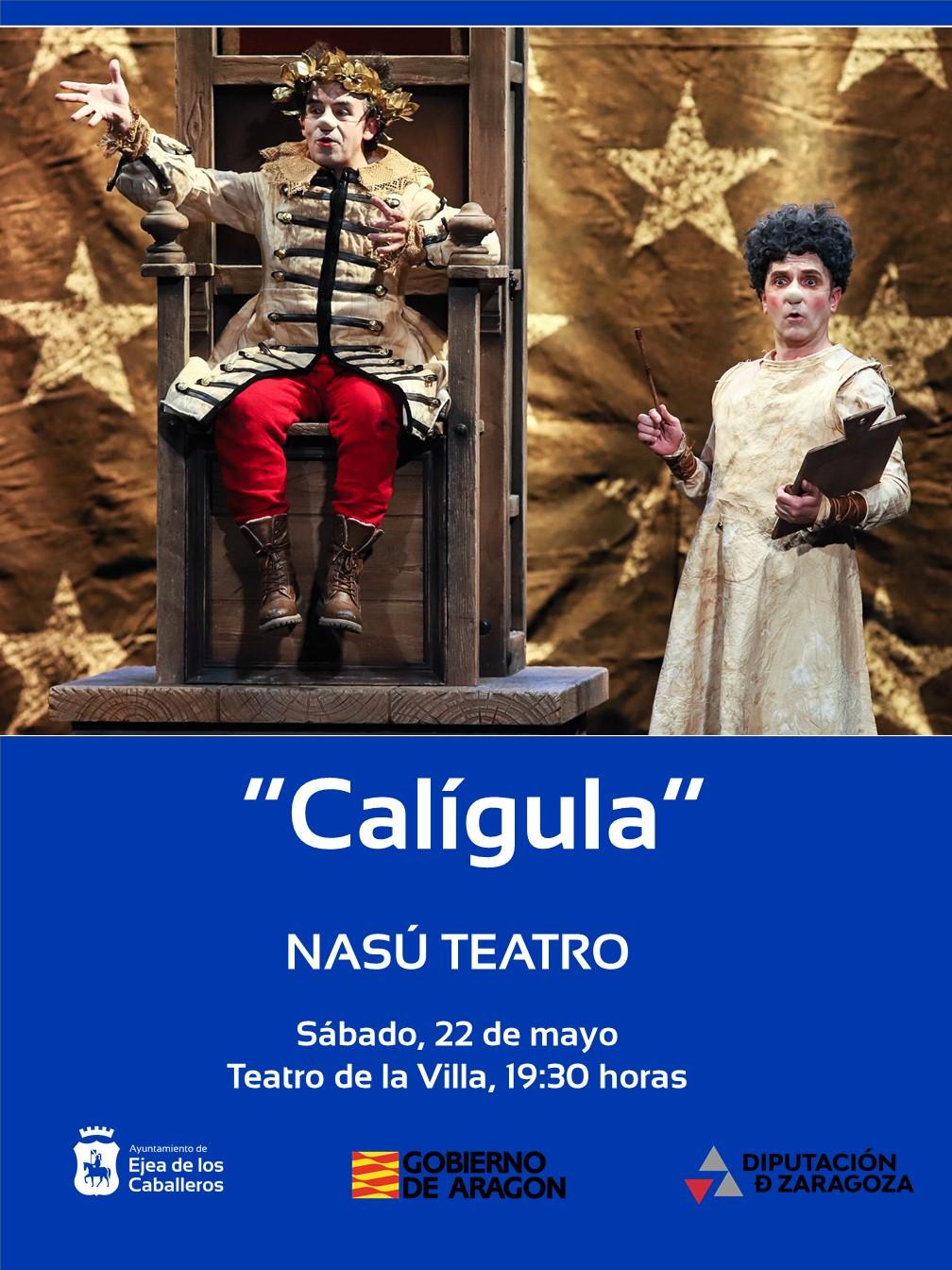 """Nasú Teatro representará """"Calígula"""", una fábula sobre el poder absoluto"""