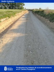 Finalizados los trabajos de adecuación del firme del camino del paraje Puyagorriz