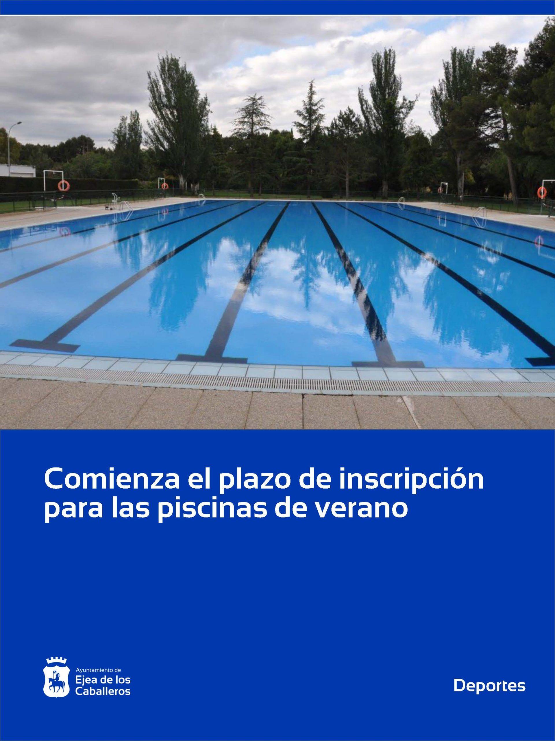 Comienza el plazo de inscripción a las piscinas de Ejea de los Caballeros y sus Pueblos