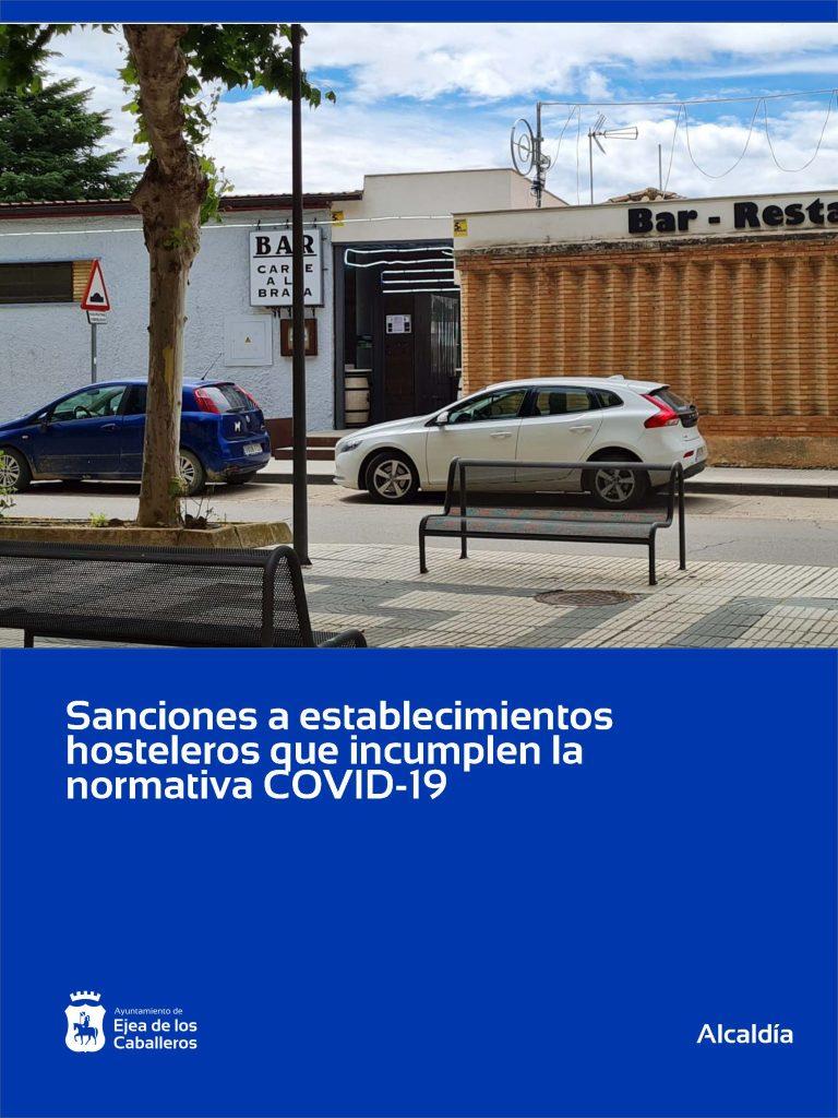 Suspensión temporal de la actividad, clausuras y sanciones económicas a los establecimientos hosteleros que incumplen la normativa COVID-19