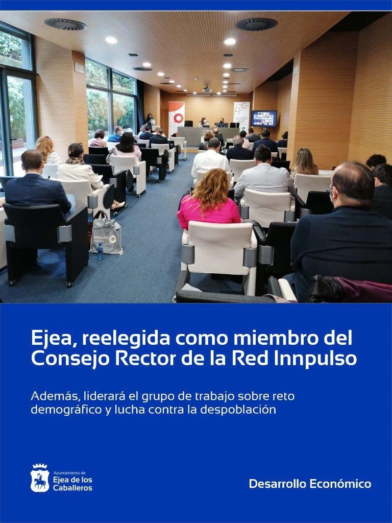 Lee más sobre el artículo Ejea de los Caballeros es reelegida como miembro del consejo rector de la Red Innpulso
