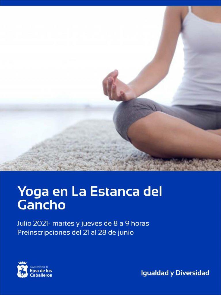 Actividad de yoga en la Estanca del Gancho de Ejea
