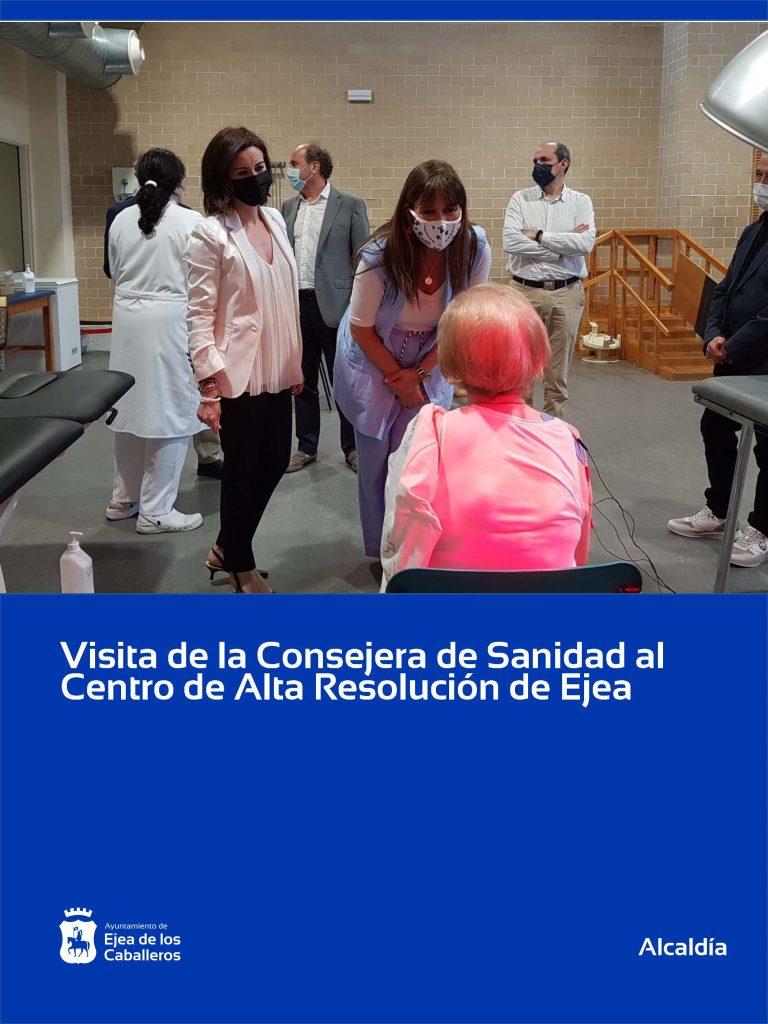 La Consejera de Sanidad visita el Centro de Alta Resolución de las Cinco Villas en Ejea