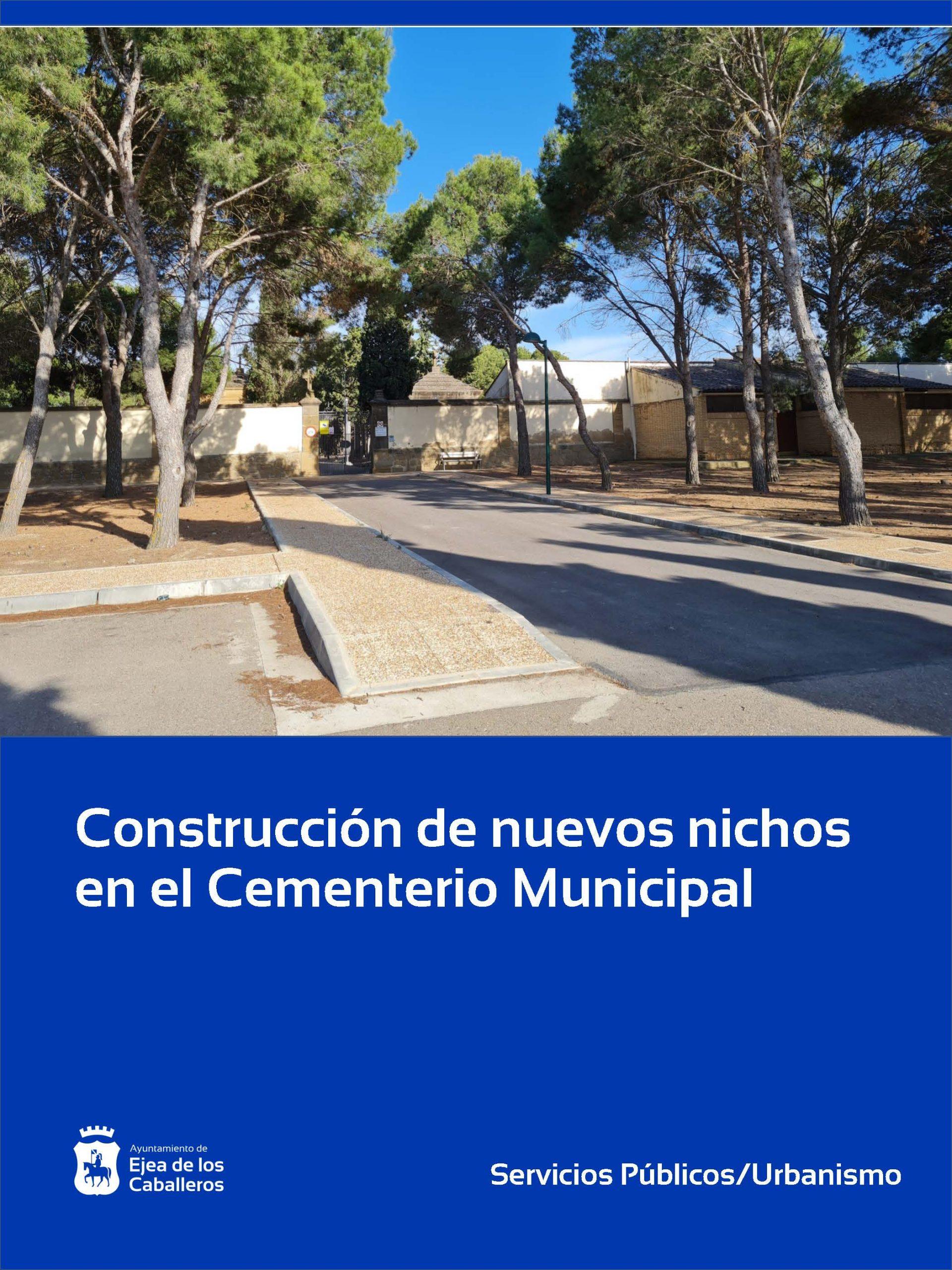 Construcción de nuevos nichos en el cementerio municipal de Ejea de los Caballeros
