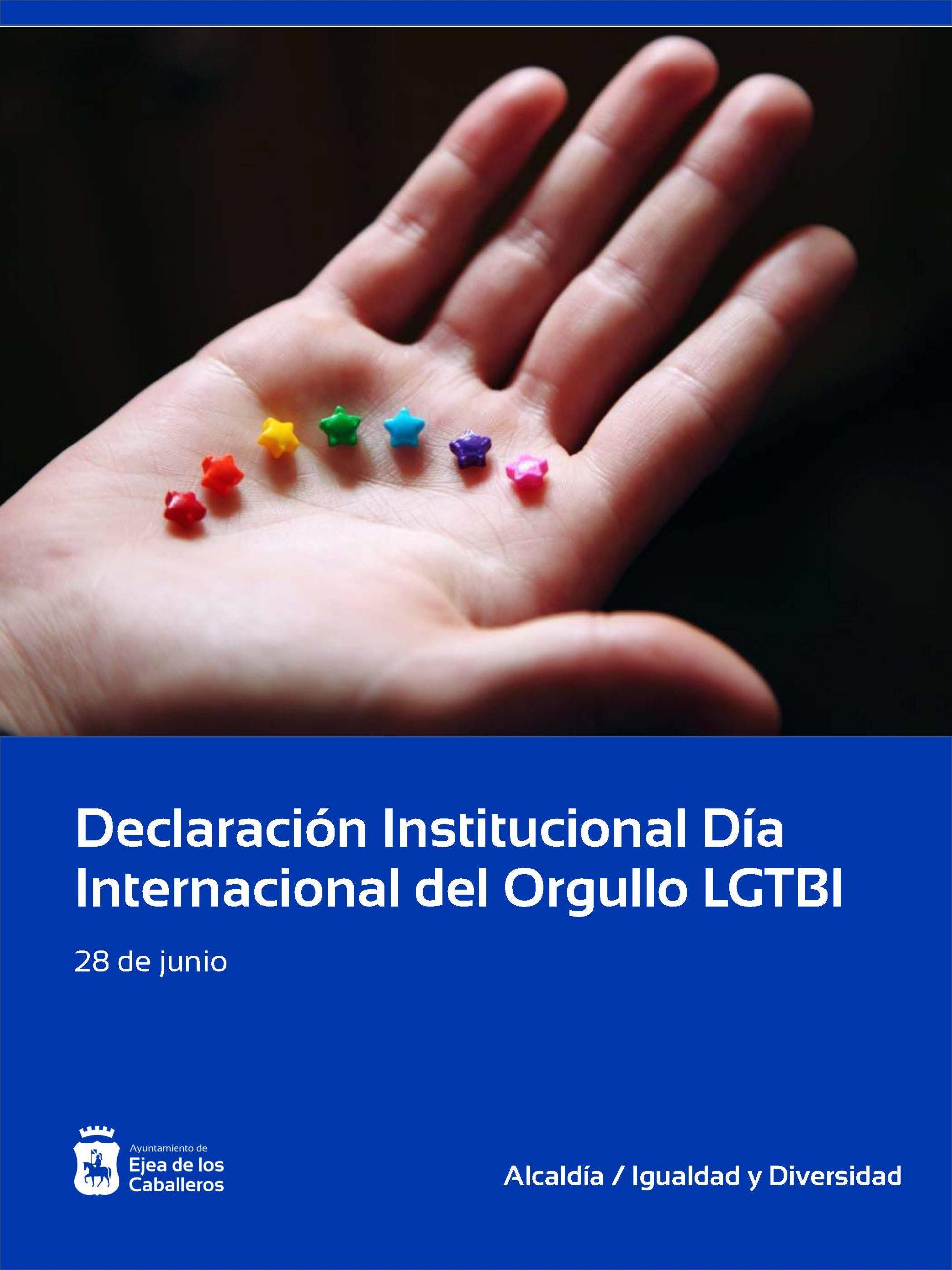 Ejea aprueba una Declaración Institucional con motivo del Día Internacional del Orgullo LGTBI