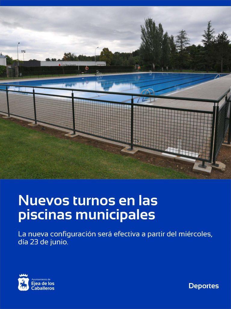 Nuevos turnos en las piscinas municipales tras el cambio de criterio en aforos adoptado por el Gobierno de Aragón
