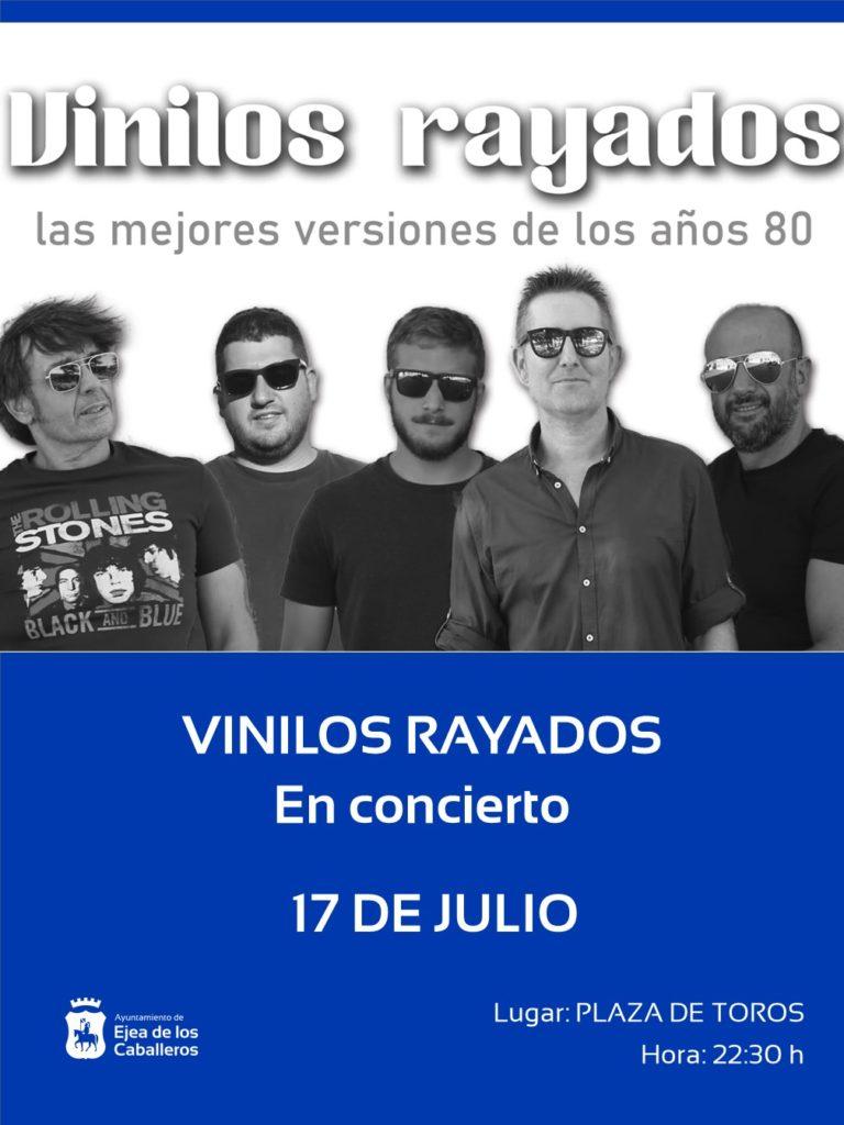 El grupo VINILOS RAYADOS abrirá el programa ¡SIGAMOS APLAUDIENDO! con un concierto de versiones de los años 80 y temas propios