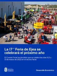 La 17ª Feria de Ejea se celebrará del 11 al 13 de marzo de 2022